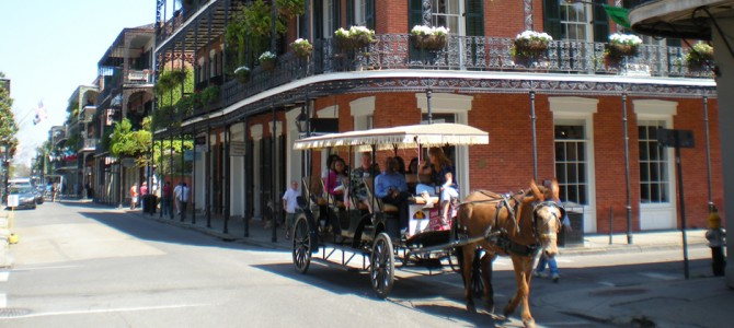 French Quarter New Orleans hotel, one block from Bourbon St