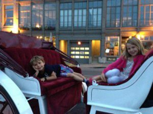 Horse drawn carriage ride in Montreal