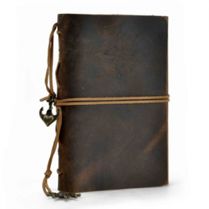ZLYC Vintage String Mediterranean Style Anchor Loose Leaf Handmade Refillable Leather Journal Notebook, Brown