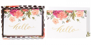 Hello Floral Boxed Notes, Set of 14