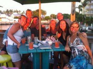 My birthday in Key West. Tiff has the glasses on and I am the blonde 2 down.