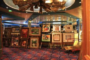 You can buy artwork on a cruise