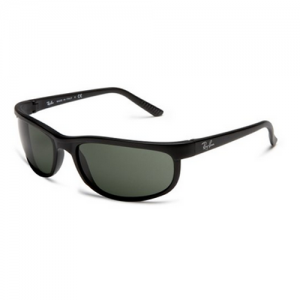 Ray-Ban Predator 2 Sunglasses in Matte Black Crystal Green RB2027
