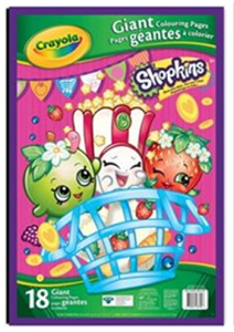 Crayola Shopkins Giant Colouring Pages